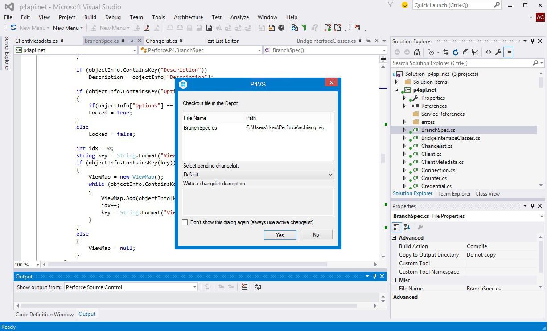P4VS - Helix Plugin for Visual Studio - Visual Studio